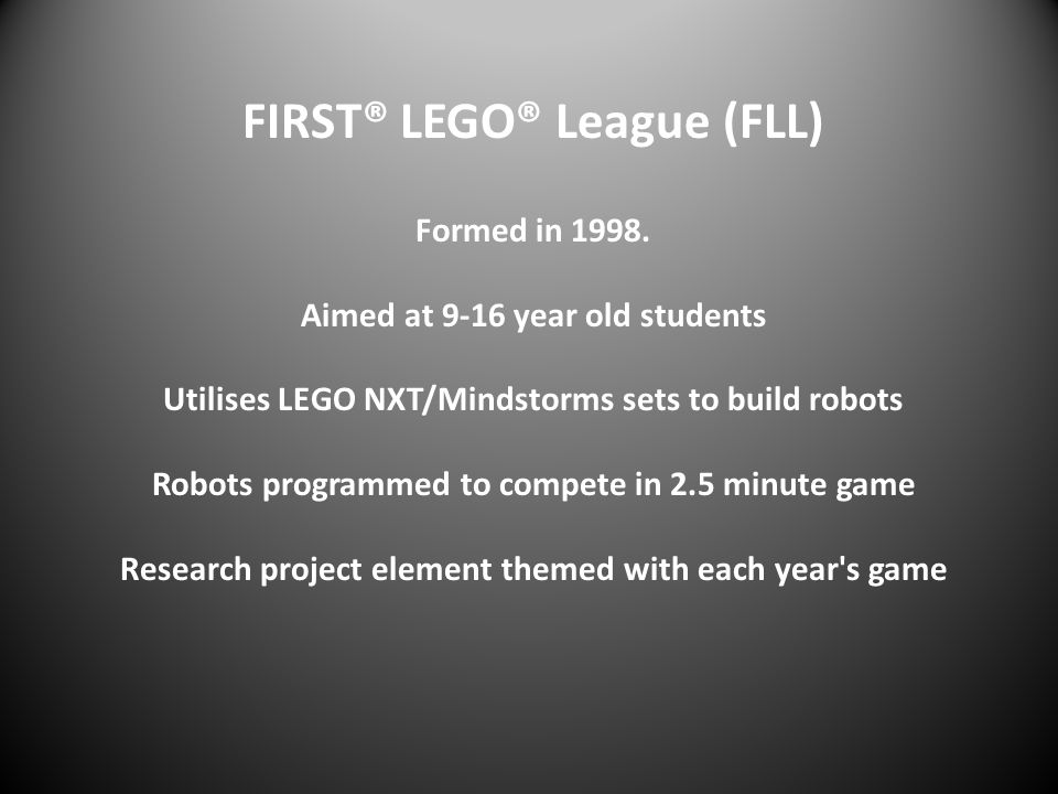 FIRST® LEGO® League (FLL)
