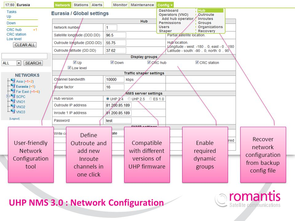 UHP NMS 3.0 : Network Configuration