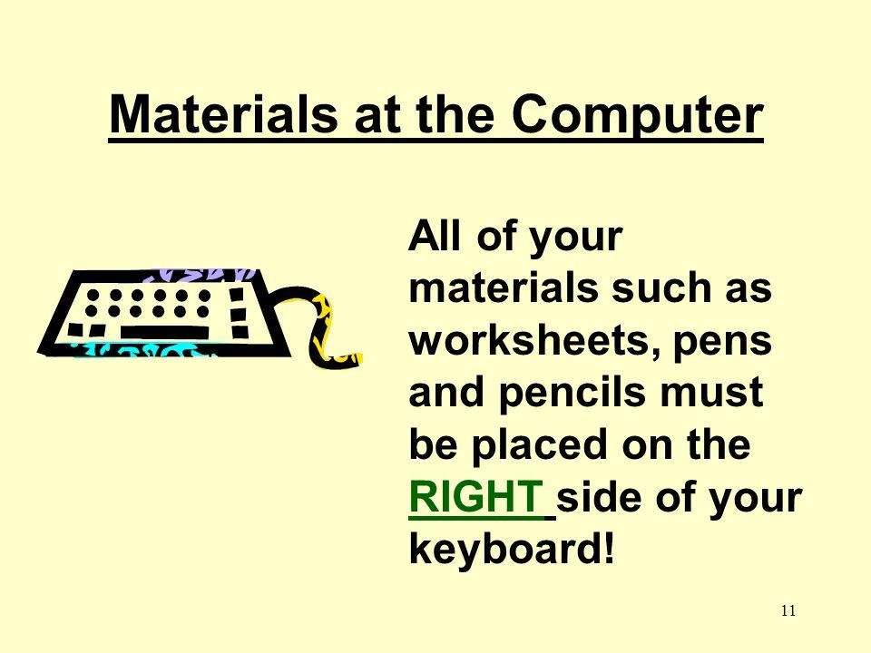 Materials at the Computer