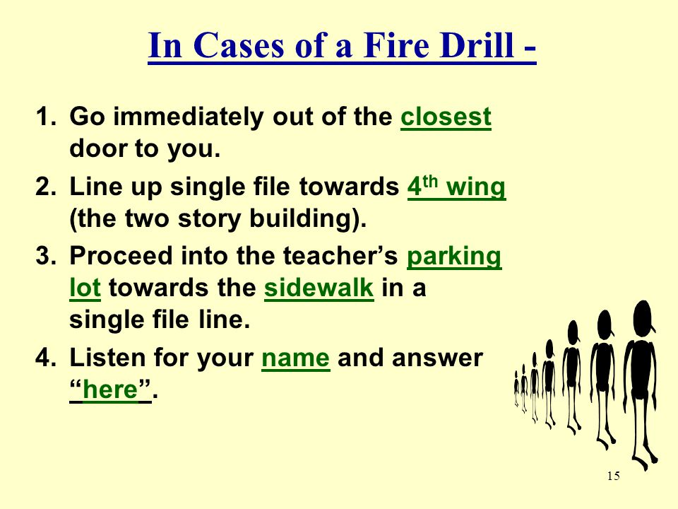 In Cases of a Fire Drill -