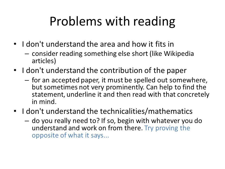 Problems with reading I don t understand the area and how it fits in