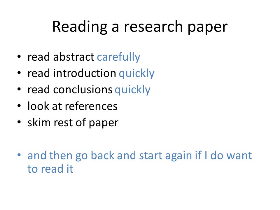 Ways To Start A Research Paper