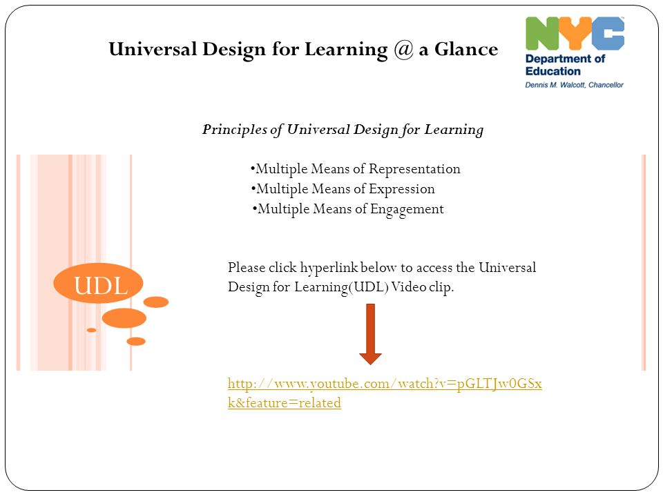 Principles of Universal Design for Learning