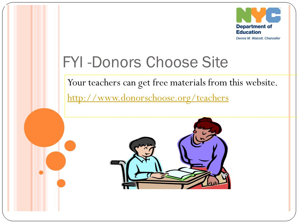 FYI -Donors Choose Site