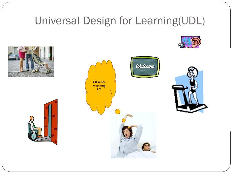 Universal Design for Learning(UDL)