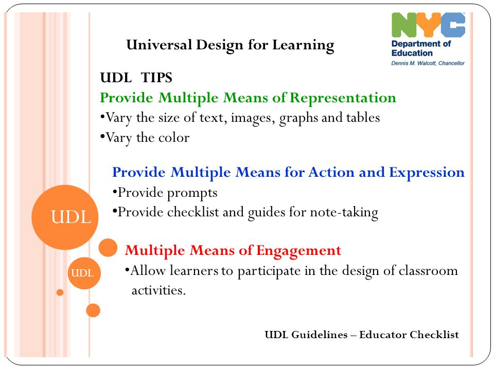 Universal Design Classroom Examples ~ Universal design for learning udl ppt video online download