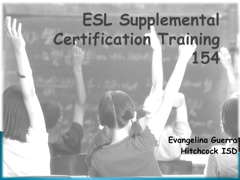 ESL Supplemental Certification Training 154