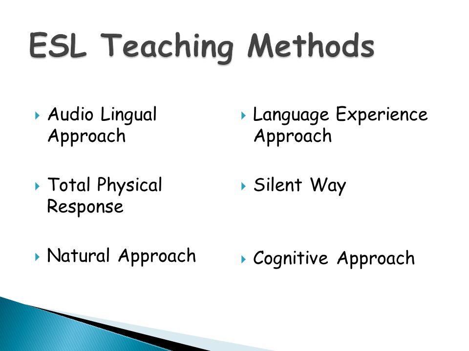 ESL Teaching Methods Audio Lingual Approach