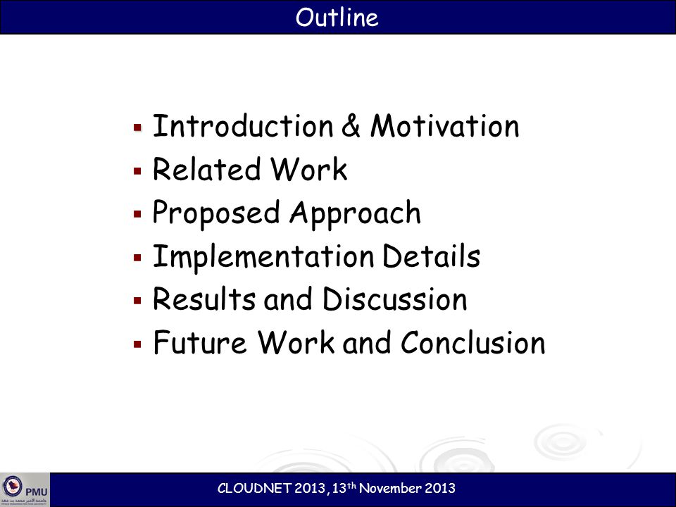 Introduction & Motivation Related Work Proposed Approach