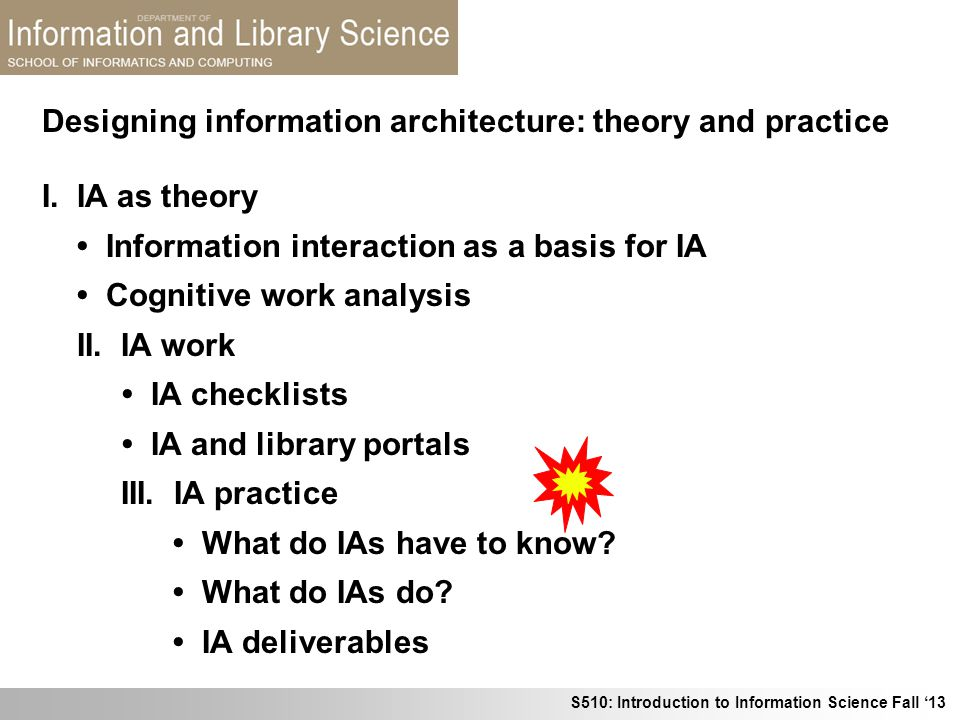 Designing information architecture: theory and practice