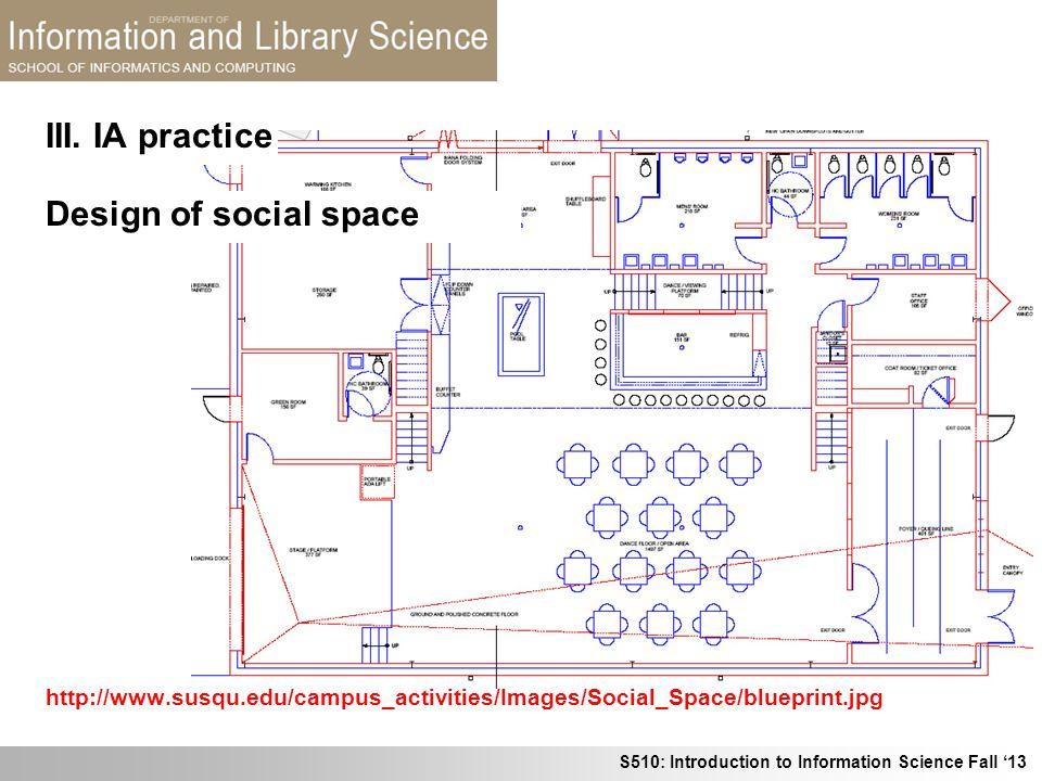 III. IA practice Design of social space