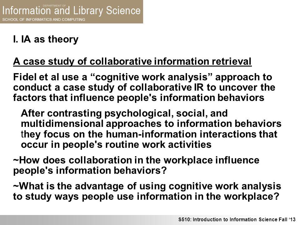 I. IA as theory