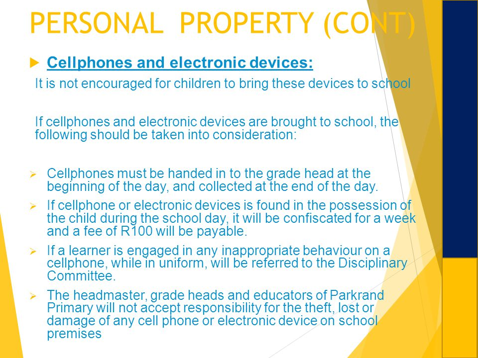 PERSONAL PROPERTY (CONT)