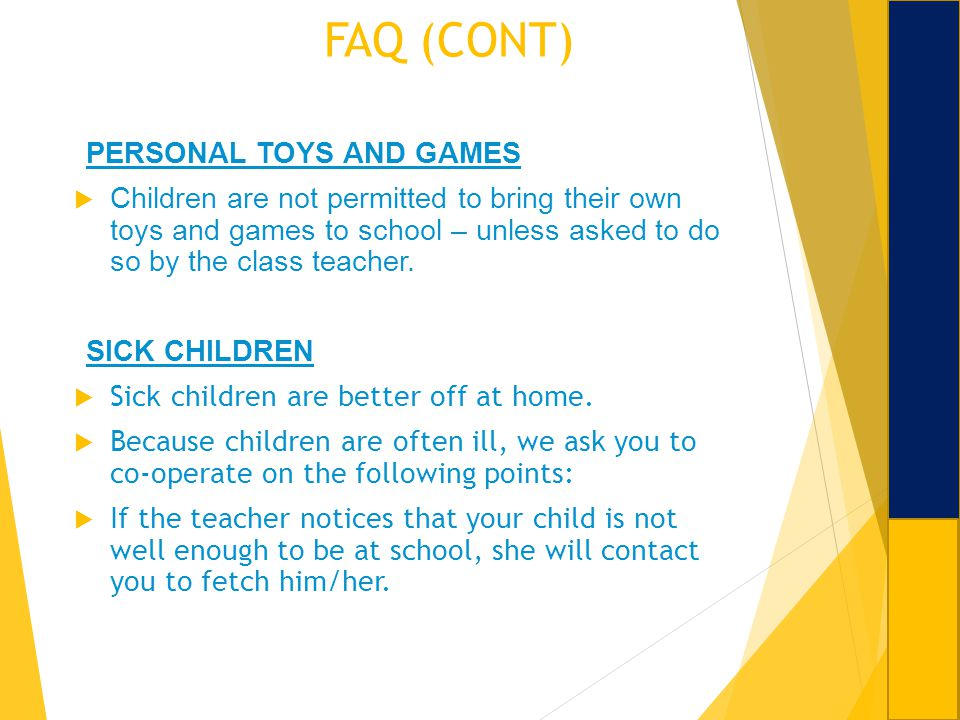 FAQ (CONT) PERSONAL TOYS AND GAMES