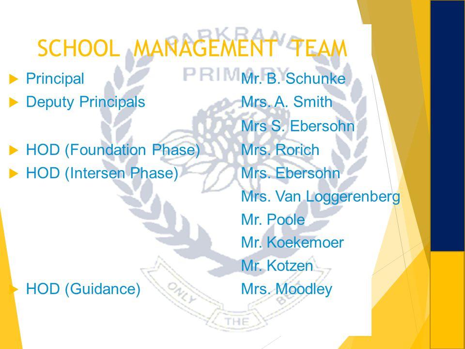 SCHOOL MANAGEMENT TEAM