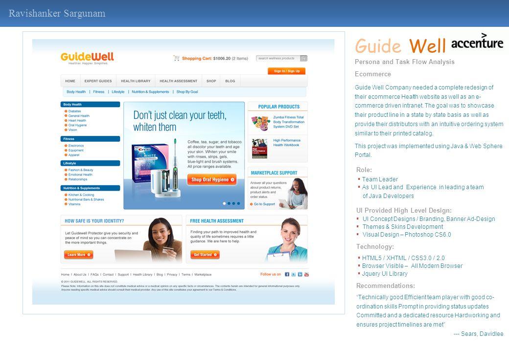 Guide Well Ravishanker Sargunam Persona and Task Flow Analysis