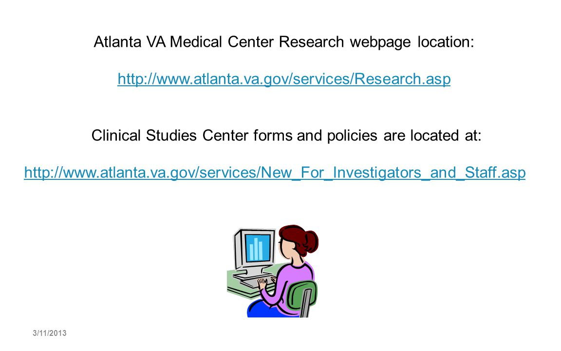 Atlanta VA Medical Center Research webpage location: