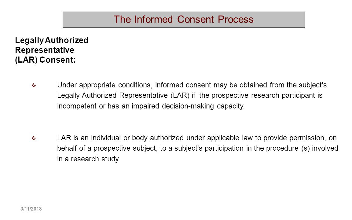 The Informed Consent Process