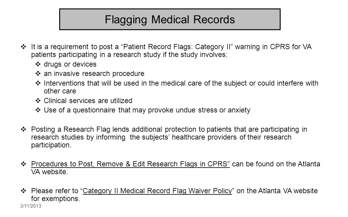 Flagging Medical Records