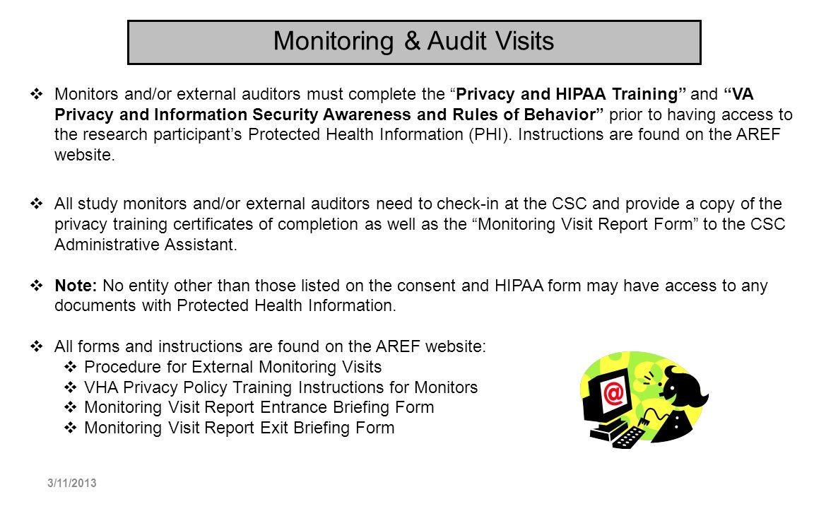 Monitoring & Audit Visits