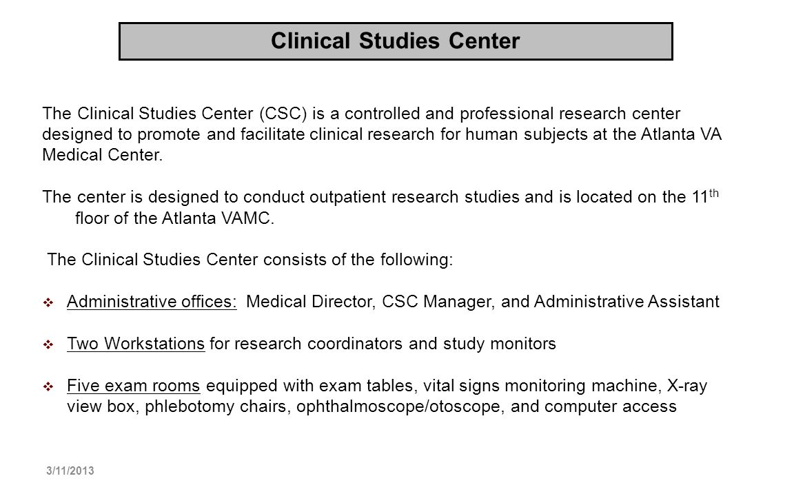 Clinical Studies Center