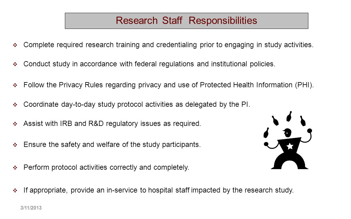 Research Staff Responsibilities