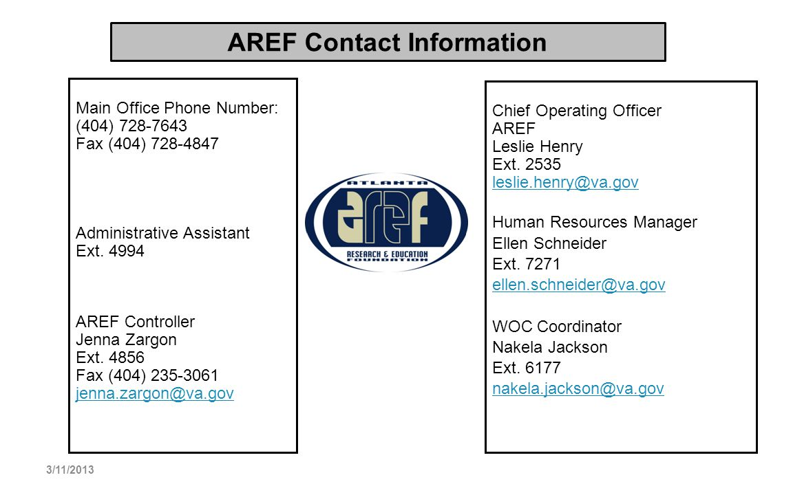 AREF Contact Information