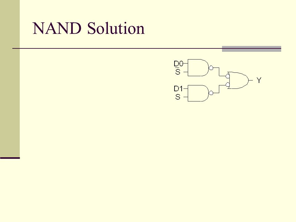 NAND Solution