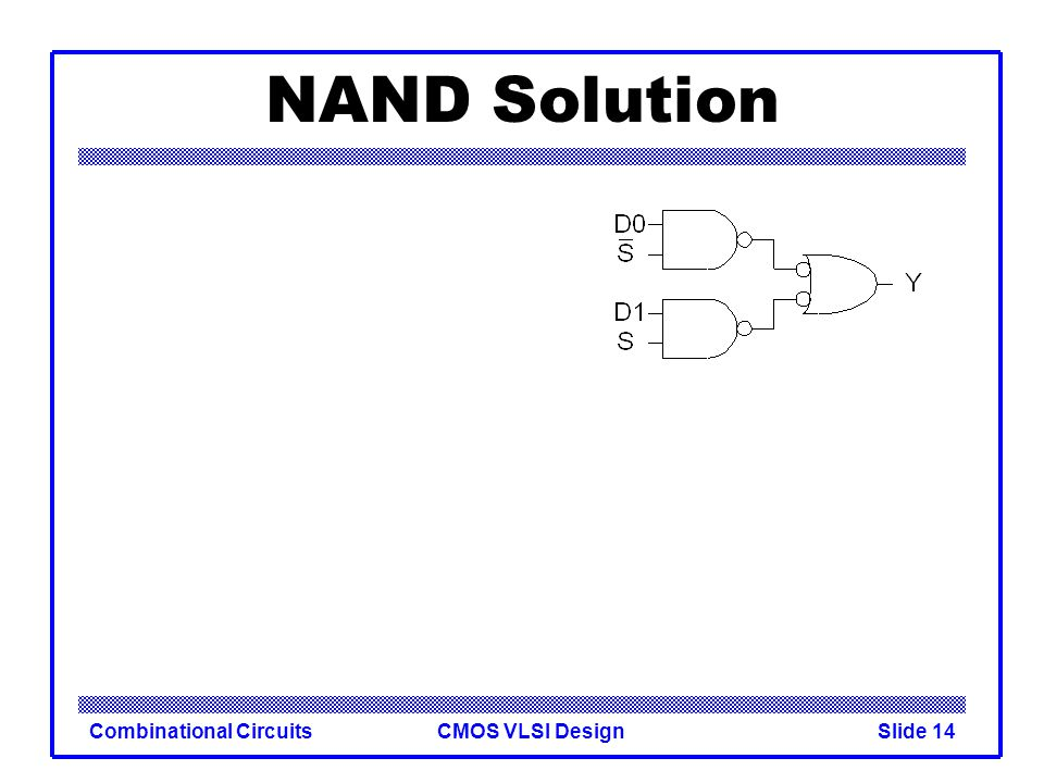 NAND Solution Combinational Circuits