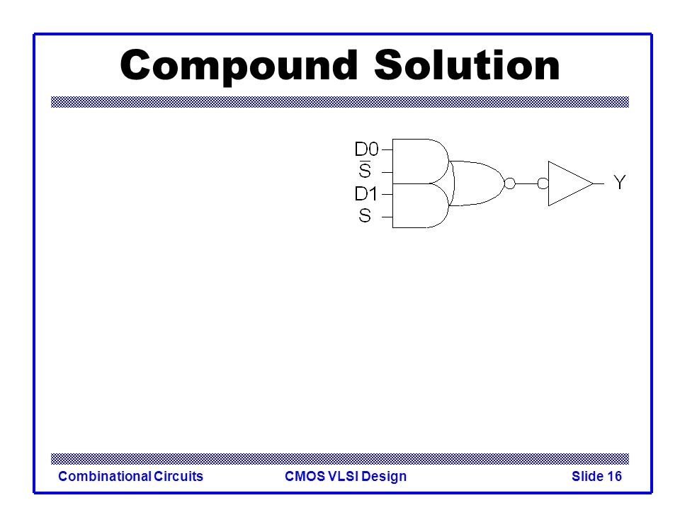 Compound Solution Combinational Circuits