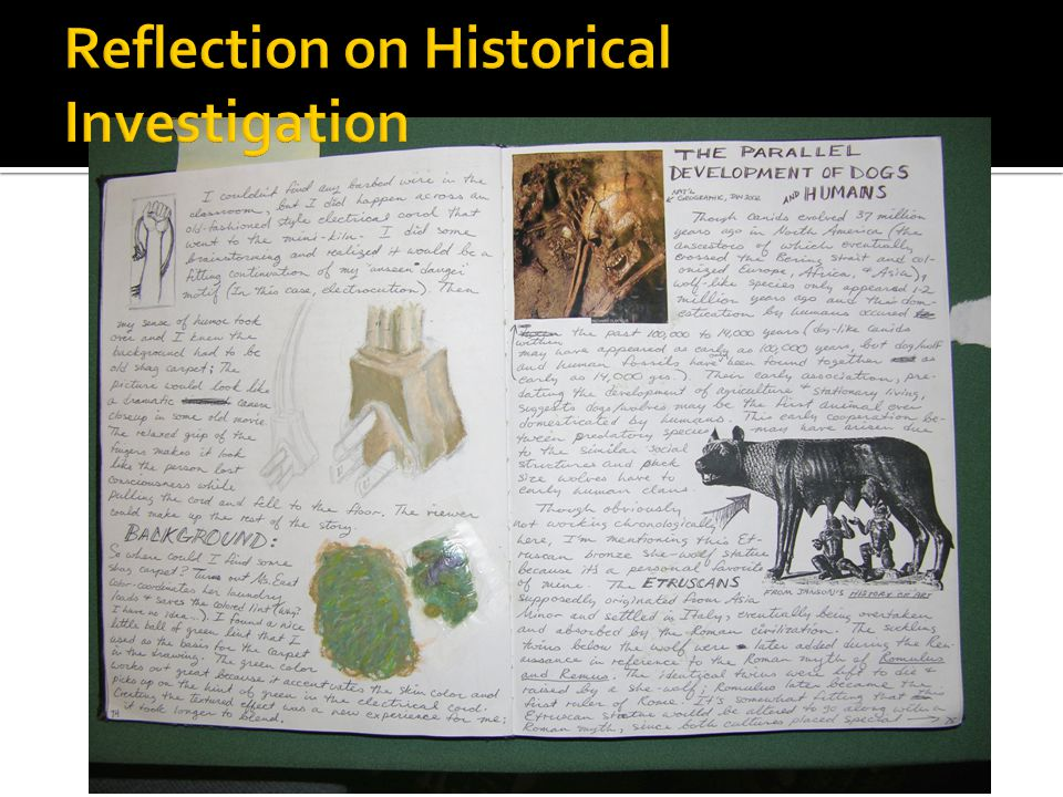 Reflection on Historical Investigation