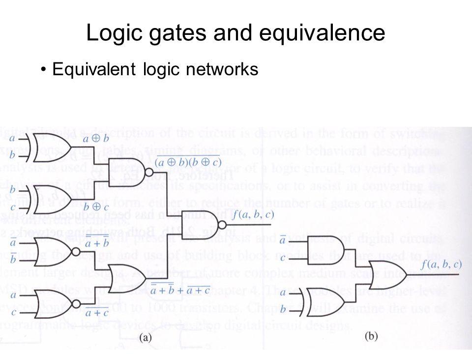 Logic gates and equivalence
