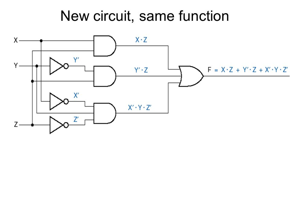 New circuit, same function