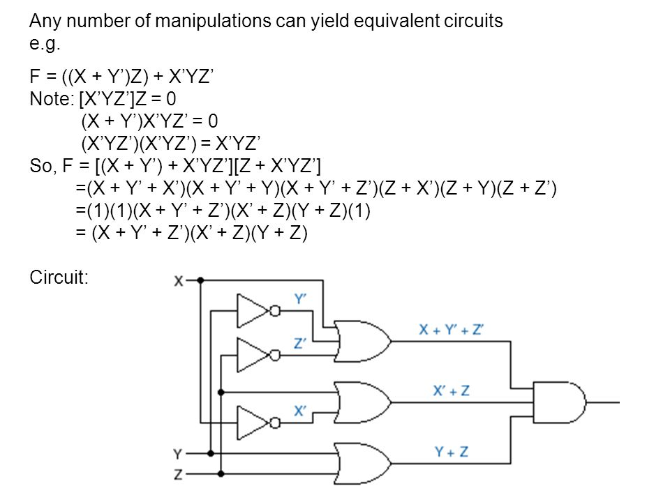 Any number of manipulations can yield equivalent circuits
