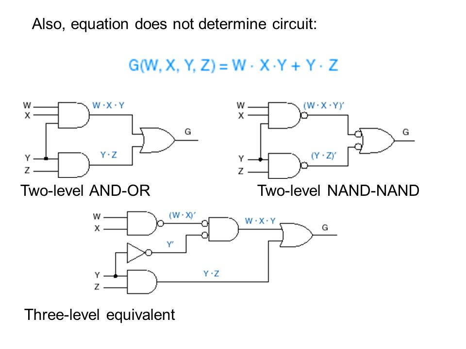 Also, equation does not determine circuit: