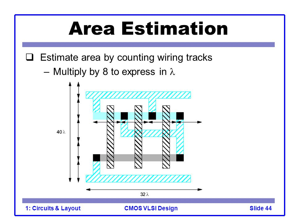 Area Estimation Estimate area by counting wiring tracks