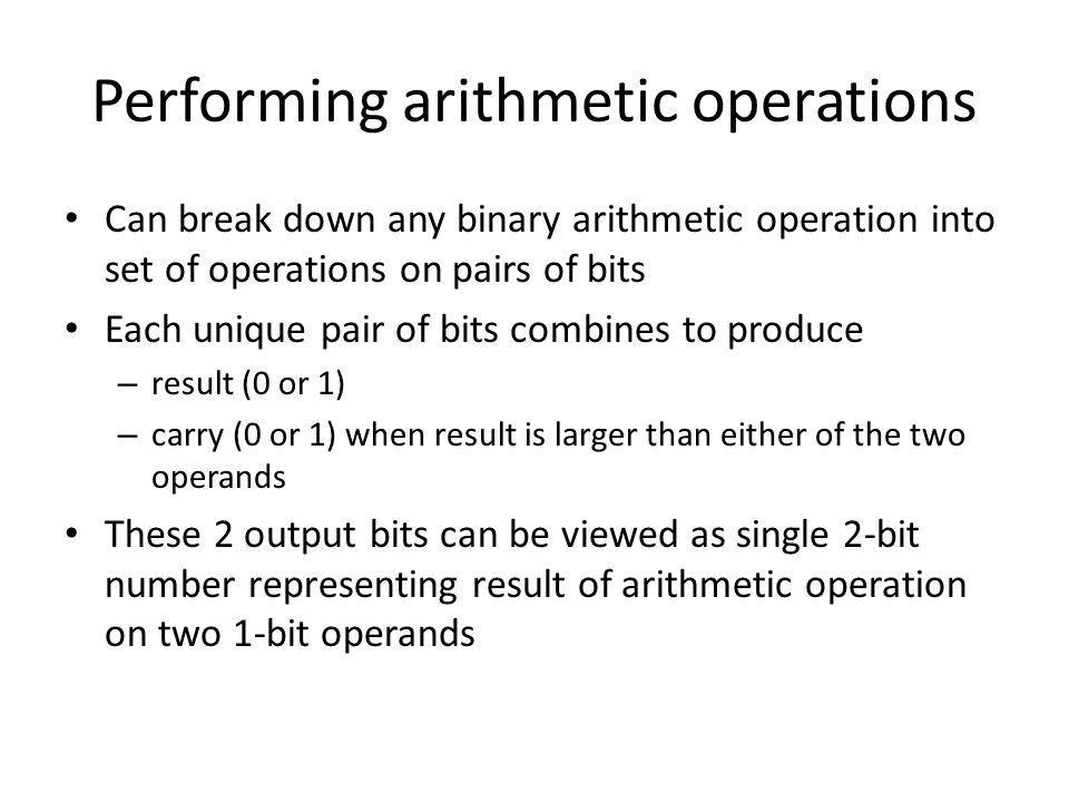 Performing arithmetic operations