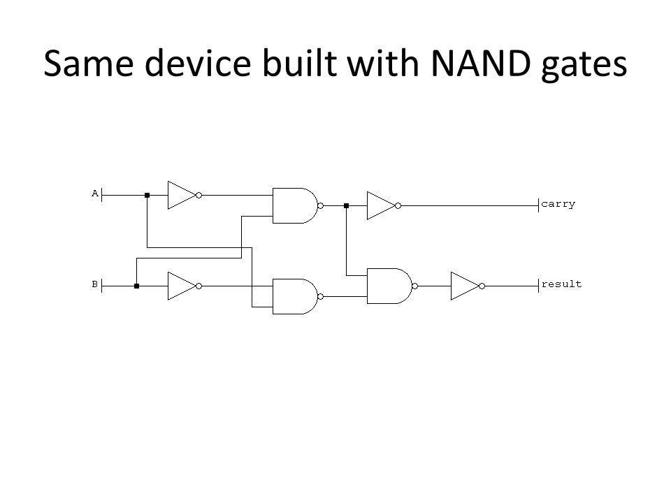 Same device built with NAND gates