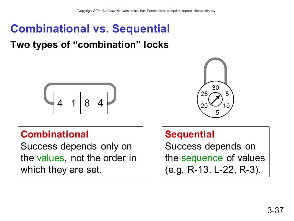 Combinational vs. Sequential