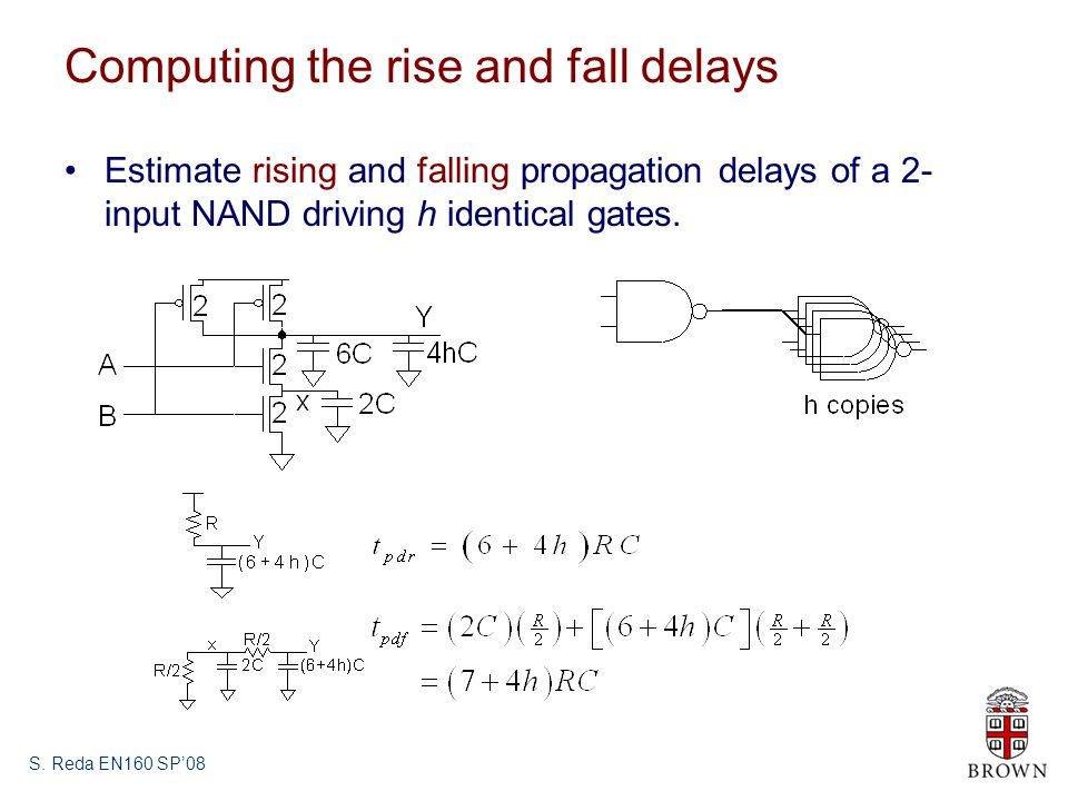 Computing the rise and fall delays