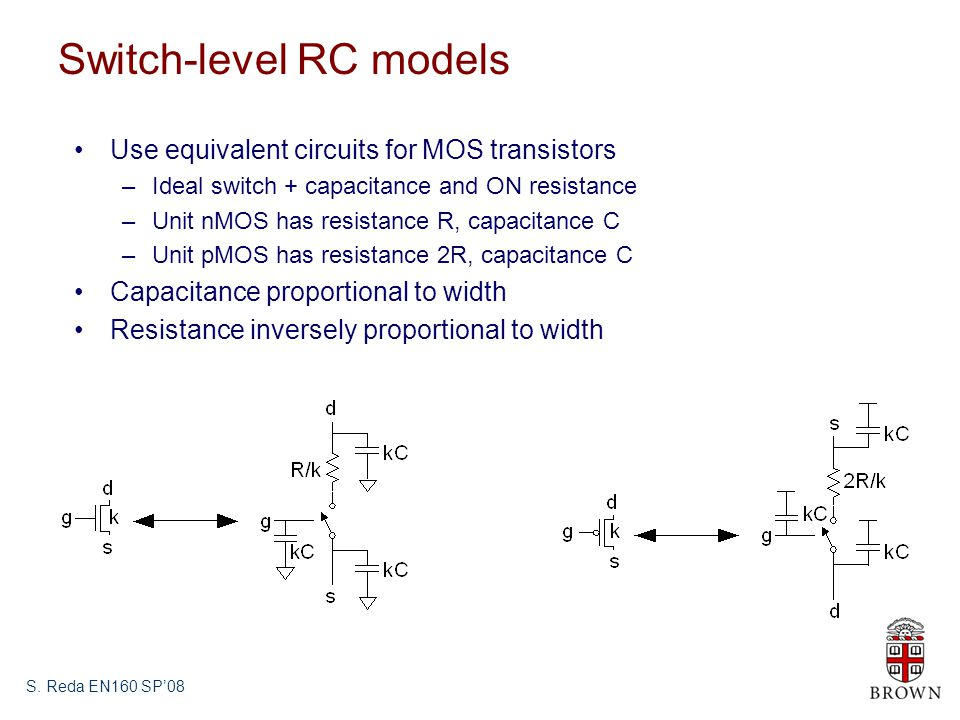 Switch-level RC models