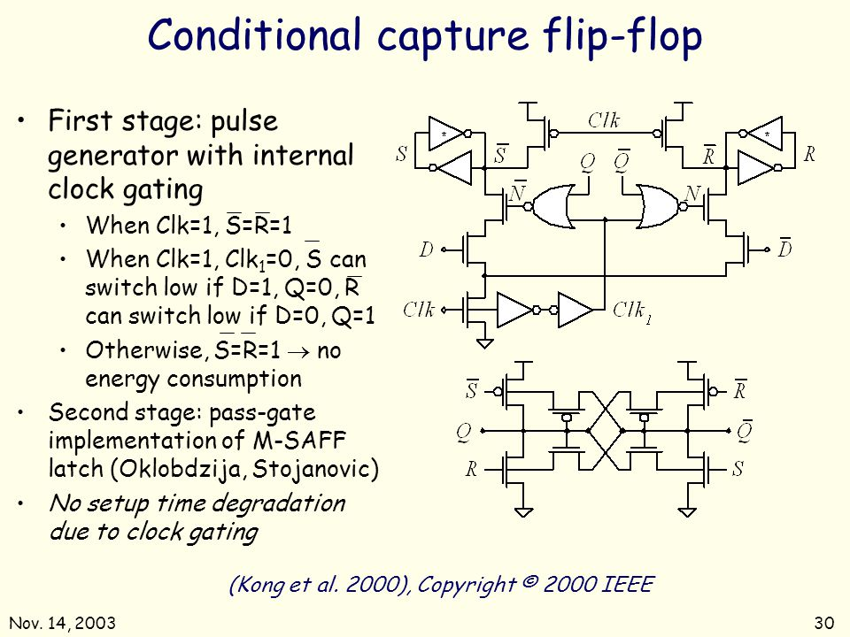 Conditional capture flip-flop