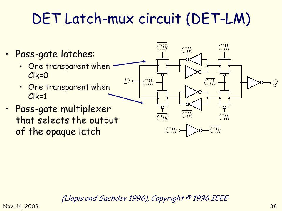 DET Latch-mux circuit (DET-LM)