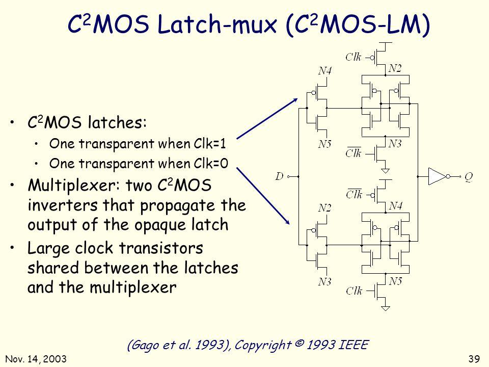 C2MOS Latch-mux (C2MOS-LM)