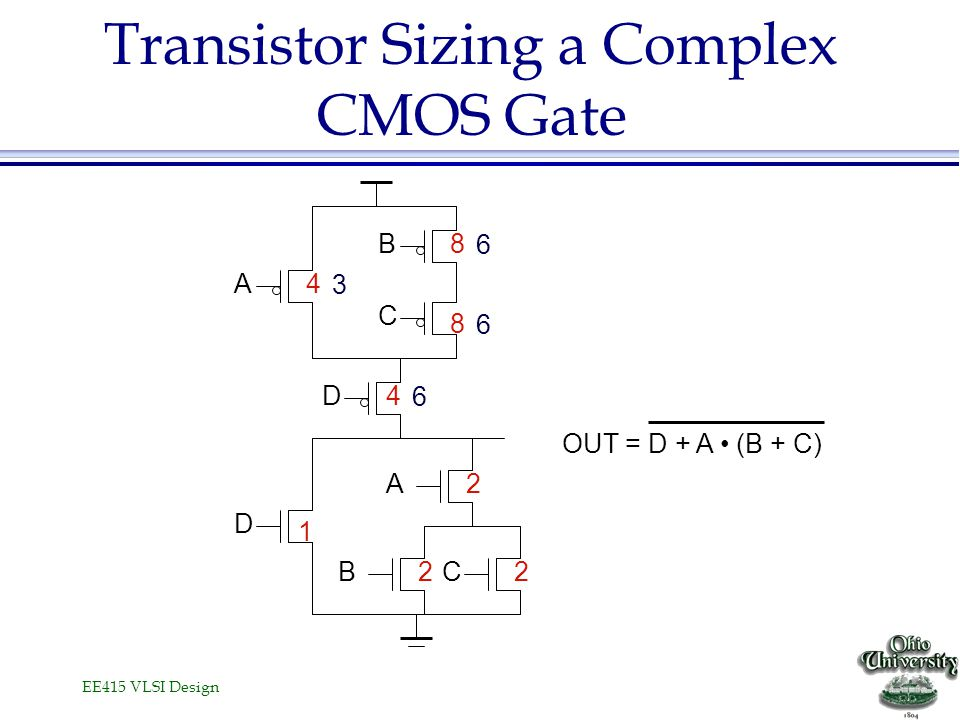 Transistor Sizing a Complex CMOS Gate