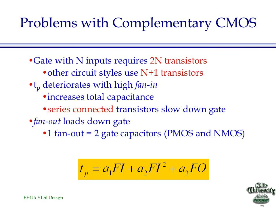 Problems with Complementary CMOS