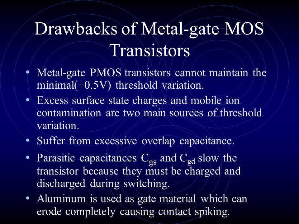 Drawbacks of Metal-gate MOS Transistors