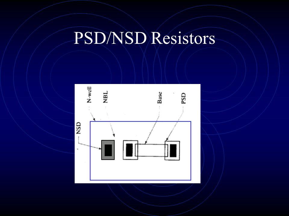PSD/NSD Resistors