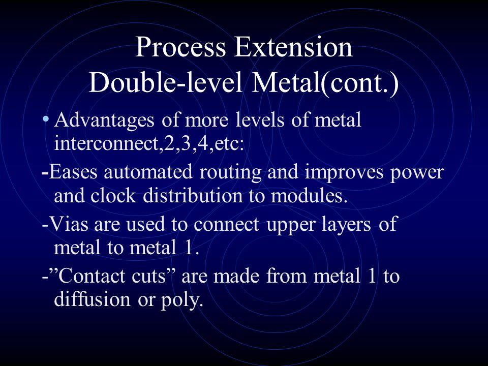 Process Extension Double-level Metal(cont.)