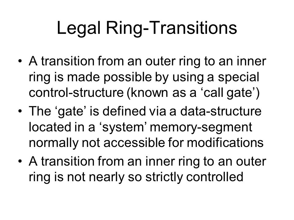 Legal Ring-Transitions